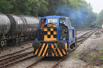 Ribble Steam Railway - A Ribble Rail locomotive and bitumen tank wagons