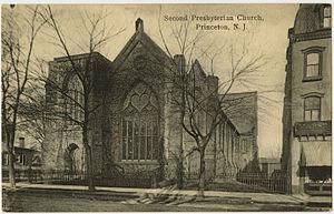 Nassau Presbyterian Church - Second Presbyterian Church on a vintage postcard.