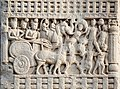 Procession of King Ashoka on his charriot Sanchi Stupa 1 Southern Gateway.jpg