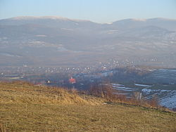 Przybędza seen from Matyska hill