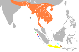 Psittacula alexandri distribution by subspecies.png