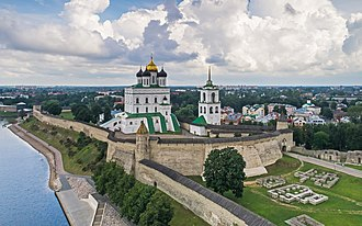 Pskov Republic - Trinity Cathedral in the medieval Pskov Kremlin