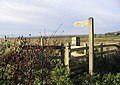 Public footpath signpost - geograph.org.uk - 282434.jpg