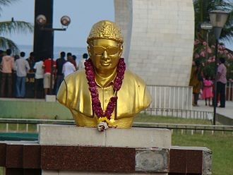 MGR Memorial - Statue of MGR at MGR Memorial