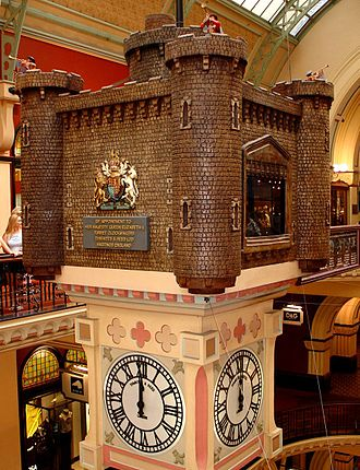 Royal Clock - The Royal Clock in the Queen Victoria Building, Sydney, Australia.