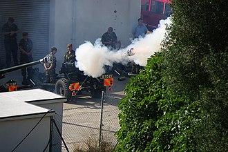 Royal Gibraltar Regiment - Image: Queens birthday 21 gun