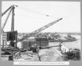 Queensland State Archives 3723 North anchor pier construction of reinforced concrete retaining wall Brisbane 16 December 1936.png