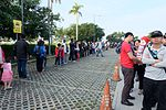Queue of Visitors Take the Shuttle Buses in THSR Taichung Station 20161126.jpg
