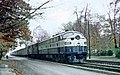 RF&P 1012 with Train 85, The Everglades, creeping through Ashland, VA on November 16, 1968 (25437496546).jpg