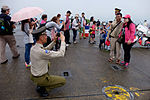 ROCMP Master Sergeant Photographing Visitors with Patrol Motorcycle in Hsinchu AFB 20151121.jpg