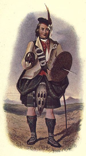 Clan Macdonald of Clanranald - R.R. McIan's Victorian era romanticised depiction of a Macdonald of Clanranald.