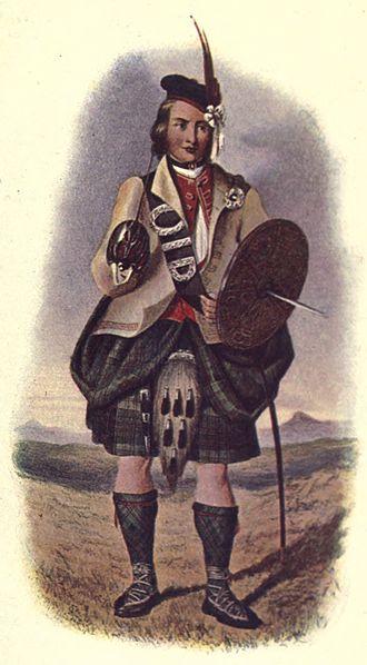 Clan Macdonald of Clanranald - R.R. McIan's Victorian era romanticised depiction of a Macdonald of Clanranald.