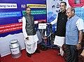 Radha Mohan Singh along with the Governor of Meghalaya, Shri Ganga Prasad visiting the exhibition stalls at the launch of the Meghalaya Milk Mission, in Shillong, Meghalaya (1).JPG