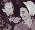 Raffaella carrà e frank sinatra in il colonnello von ryan 1965.jpg