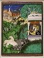 Rajastan, il maharaja chattarsol di kota che spara a leoni, corte di rajput a kota, 1860 ca.jpg