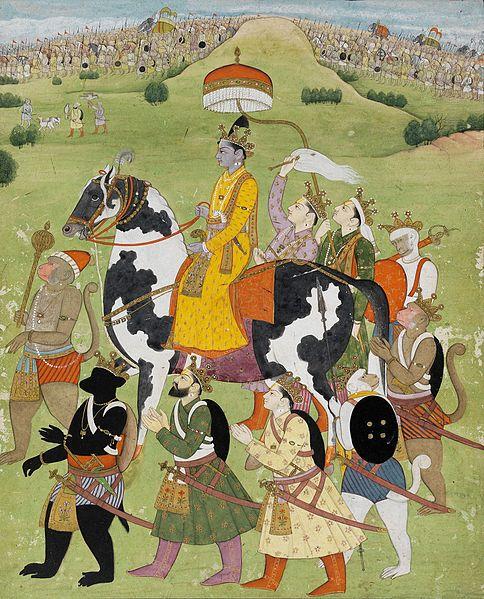 File:Rama Returns in Victory to Ayodhya, Pahari, Kangra, Fitzwilliam Museum.jpg