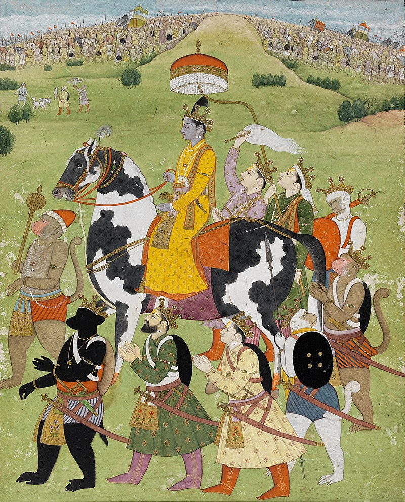 Rama Returns in Victory to Ayodhya, Pahari, Kangra, Fitzwilliam Museum.jpg