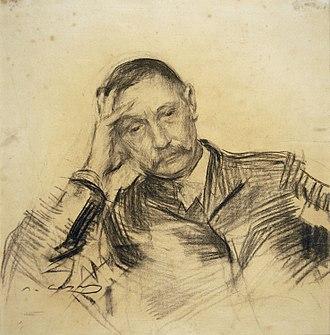 Benito Pérez Galdós - Portrait by Ramon Casas i Carbó.