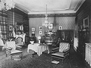 Alexander Ramsey House - Ramsey House large parlor ca. 1884