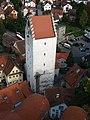 Ravensburg, Blick vom Mehlsack zum Obertor.JPG