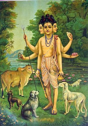 Dattatreya - Dattatreya painting by Raja Ravi Varma