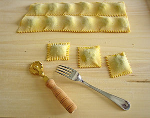 Ravioli - Making of ravioli
