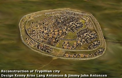 Reconstructed example of Trypillian city