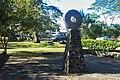 Reconstruction Meso-American ballcourt Cartago, Costa Rica.jpg