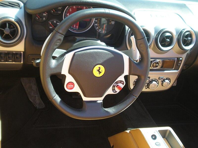 File:Red Ferrari F430 Spider steering wheel.JPG