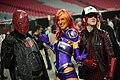 Red Hood, Starfire & Arsenal cosplayers (15832678189).jpg