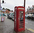 Red phonebox, Station Approach, Penarth (geograph 5096514).jpg