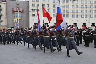 2018 Moscow Victory Day Parade - Rehearsals for the Victory Day Parade in Murmansk in 2018.