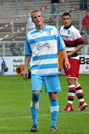 Julius Reinhardt (footballer) - Reinhardt (left) in 2008.