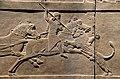 Relief detail of King Ashurbanipal hunting a lion on horseback, North Palace, Nineveh, 645–635 BC, Exhibition I am Ashurbanipal king of the world, king of Assyria, British Museum (45972457881).jpg