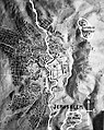 Relief map of Jerusalem with barbed wire demarcation line as in 1953. matpc.12991.jpg