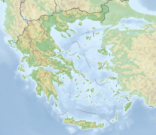 Reliefkarte Griechenland