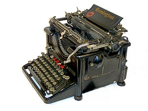 Remington typewriter No. 12 with Cyrillic letters 01