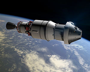 Exploration Flight Test 1 - Rendering of Orion capsule and Delta IV upper-stage during EFT-1