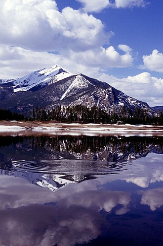 Summit County, Colorado - Snowmelt runoff fills Lake Dillon in Summit County