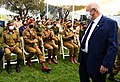 Reuven Rivlin during rehearsal 120 outstanding IDF soldiers ceremony, April 2021 (GPOZAC 4984).jpg