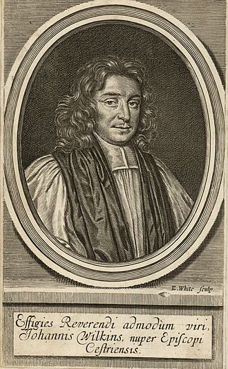 John Wilkins - An 18th Century engraving of John Wilkins, Chester