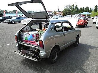 Subaru Rex - 1975-76 Subaru Rex Van 360, high roofed version with engine placement visible