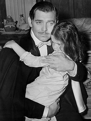 Cammie King - Clark Gable and Cammie King in Gone With the Wind (1939)
