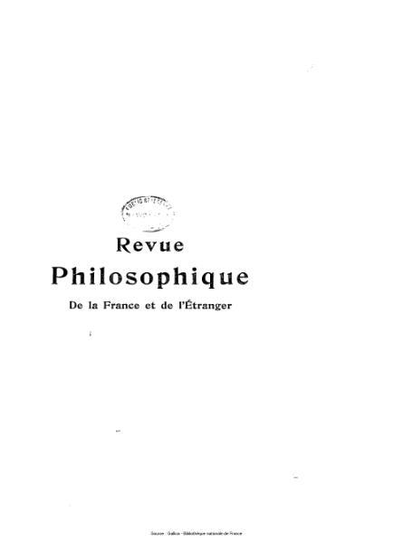 File:Ribot - Revue philosophique de la France et de l'étranger, tome 76.djvu