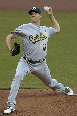 Rich Hill (pitcher) - Hill pitching for the Oakland Athletics in 2016