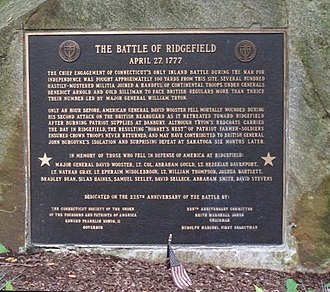 Battle of Ridgefield - Image: Ridgefield CT memorial