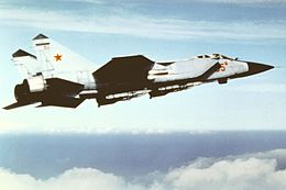 Right side view of a Soviet MiG-31 Foxhound 2.jpg