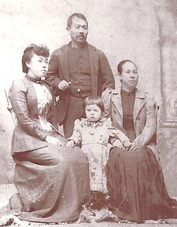 Riki Ito with her daughter and Mr and Mrs Kato.jpg