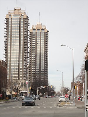 Riley Towers - Image: Riley Towers I and II, Indianapolis, Indiana