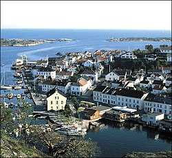 View of the town of Risør